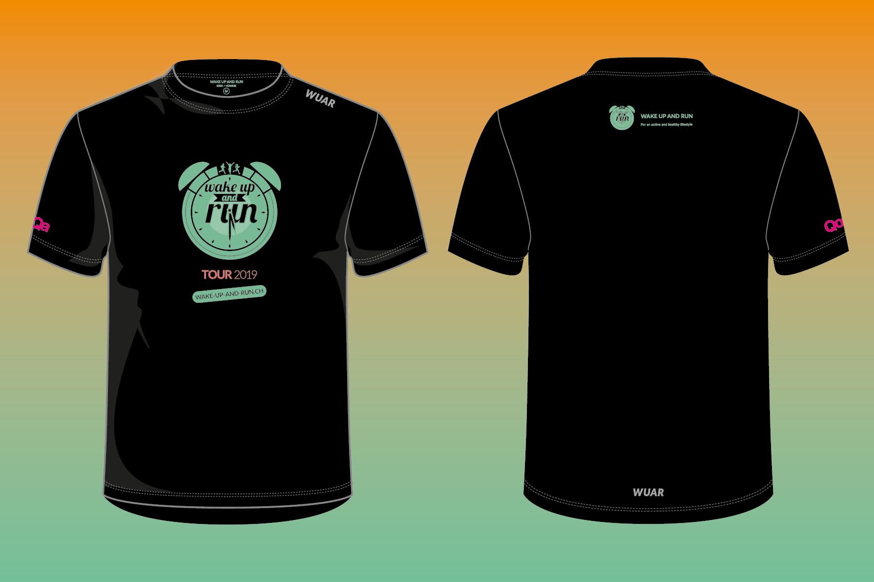 los angeles 53a8f 9266d Wake up and run kreiert seine eingene T-Shirt Brand: WUAR ...